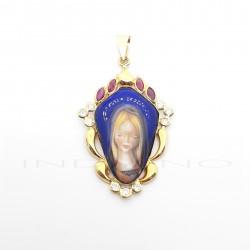 Medalla Oro Esmalte Virgen NiñaP023000307