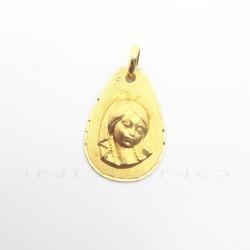 Medalla Oro Lágrima Virgen NiñaP023000673
