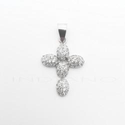 Cruz Oro Blanco Cuajado CirconitasP002300864