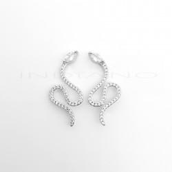 Pendientes Plata Trepadores Serpientes CirconitasP025101068
