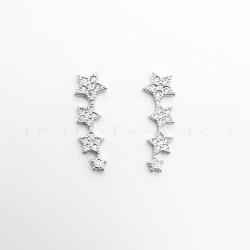 Pendientes Plata Trepadores Cuatro Estrellas CirconitasP025101071