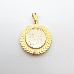 Medalla del Padre Oro Bicolor Algo Tuyo Vive en MíP005504481