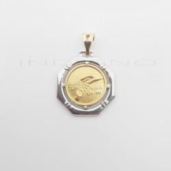 Medalla del Padre Oro Bicolor Algo Tuyo Vive en MíM-06