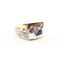 Sello Oro Bicolor Dragon ZafiroP023001912