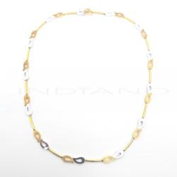 Gargantilla Oro Bicolor Gotas CaladasP015700010
