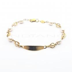 Esclava Oro Perlas con JaulasP002000589