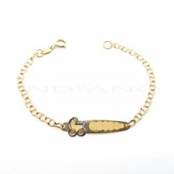 Esclava Oro Bebe Chapa Carrito Cadena HungaraP010200700