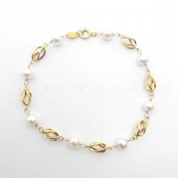 Pulsera Oro Perlas Y JaulasP022500447