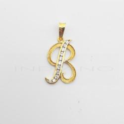 Colgante Oro Letra B Circonitas CarrilP005506033