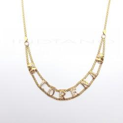Gargantilla Oro Nombre Lorena CirconitasP009200311