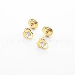 Pendientes Oro Minnie Calados Circonita PequeñosP026300182