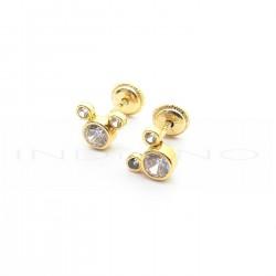 Pendientes Oro Silueta Mickey CirconitasP026300183