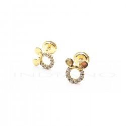 Pendientes Oro Silueta Minnie Calada CirconitasP026300185