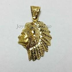 Colgante Oro Cabeza Indio Labrado