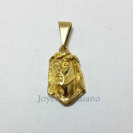 Cabeza de Cristo Oro Labrada Pequeña