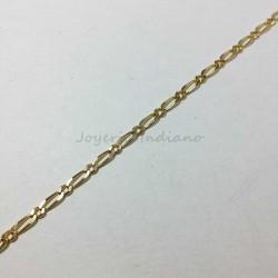 Cadena Oro Tipo Cartier 1x1 Fuerte