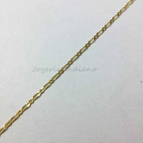 Cadena Oro Tipo Cartier 1x1