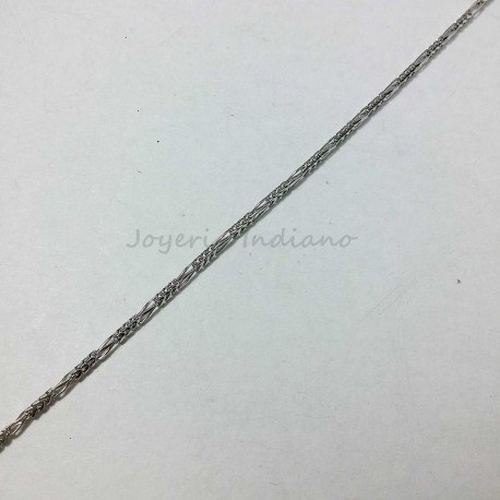 Cadena Oro Blanco Espiga 3x1