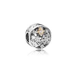 Charm Pandora plata y oro Maravillas Celestiales796363CZ