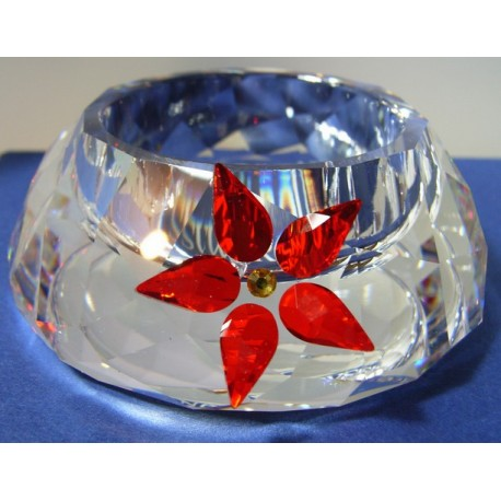 CANDELERO TEA LIGHT POINSETTA