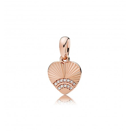 Charm Pandora Colgante Abanico de Amor Rosé