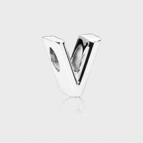 Charm Pandora Letra V