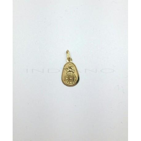 Medalla Oro Angel Reloj