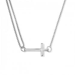 Collar de plata Alex And Ani simbolo de la CruzPC14SPN05S