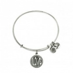 Pulsera Alex And Ani  Love II Acabado Plata EnvejecidaA14EB71RS