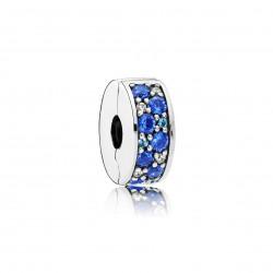 Clip Pandora Elegancia Brillante Mosaico Azul791817NSBMX