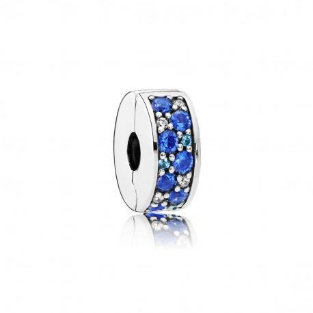 Clip Pandora Elegancia Brillante Mosaico Azul