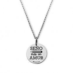 Colgante T-Adoro Plata Seño Eres Un Amor14M.CO.S02