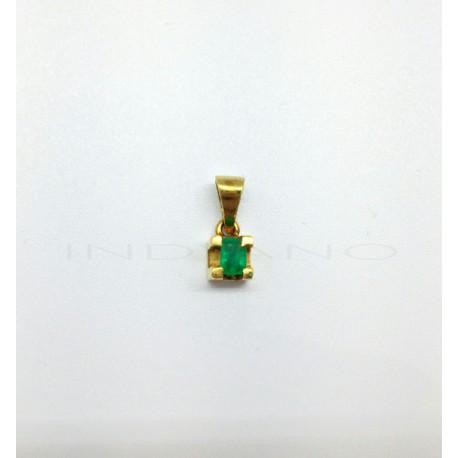 Colgante Oro Esmeralda