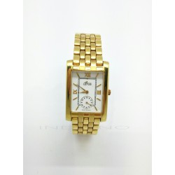 Reloj Lotus Oro Rectangular