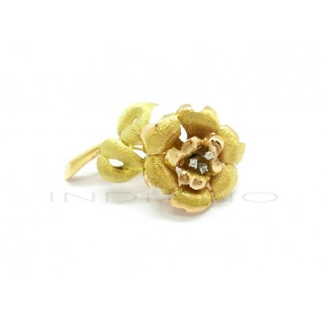 Broche Oro Rosa Labrada