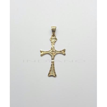 Cruz Oro Lapidada Forma