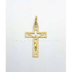 Cruz Oro Calada Cristo Matizada
