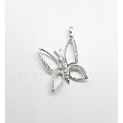 Colgante Oro Blanco Mariposa Circonitas