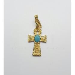Cruz de la Vida Oro Turquesa EscarabajoP022500426