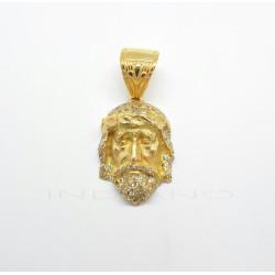 Colgante Oro Cabeza de Cristo Circonitas