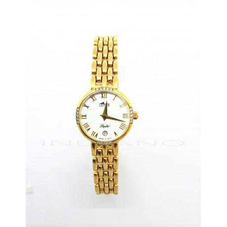 Reloj Oro Lotus Brillantes