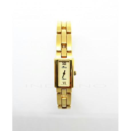 Reloj Oro Lotus Rectangular