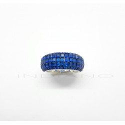 Sortija Plata Pavé Azul