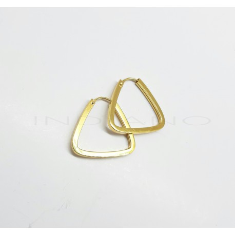 Pendientes Oro Aros Triángulo