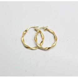 Pendientes Oro Aros RetorcidosP022400080