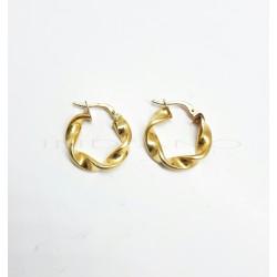 Pendientes Oro Aros RetorcidosP023000119