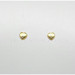 Pendientes Oro Corazón CirconitaP000201888
