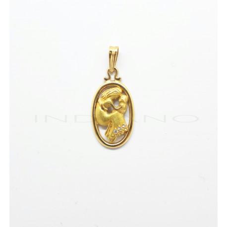 Medalla Oro Ovalada Día de la Madre